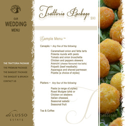 Download our Wedding Menu Package here